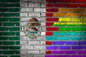Dark brick wall - LGBT rights - Mexico — Stock Photo