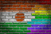 Dark brick wall - LGBT rights - Niger — Stok fotoğraf