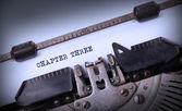 Vintage inskrift av gammal skrivmaskin — Stockfoto