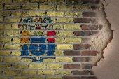 Dark brick wall with plaster - New Jersey — Stock Photo