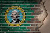 Dark brick wall with plaster - Washington — Stock Photo
