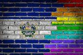 Dark brick wall - LGBT rights - El Salvador — Stock Photo