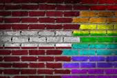 Dark brick wall - LGBT rights - Latvia — Stock Photo
