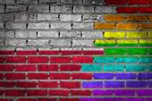Dark brick wall - LGBT rights - Poland — Stock Photo