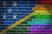 Dark brick wall - LGBT rights - Solomon Islands — Foto Stock