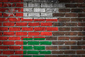 Brick wall texture with flag — Foto de Stock
