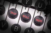 Typewriter with special buttons — Fotografia Stock