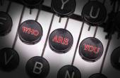 Typewriter with special buttons — Stock Photo