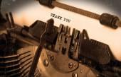 老打字机用纸 — 图库照片