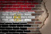 Dark brick wall with plaster - Egypt — Stock Photo