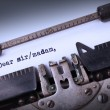 Vintage inscription made by old typewriter — Stock Photo #58037839