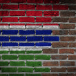 Brick wall texture with flag — Stock Photo #58328937