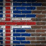 bakstenen muur textuur met vlag — Stockfoto #58993329
