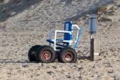 Wózek zaprojektowany specjalnie do używania na plaży — Zdjęcie stockowe
