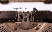 Vintage inscriptie, gemaakt met de oude schrijfmachine — Stockfoto