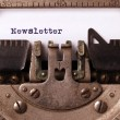 Vintage inscription made by old typewriter — Stock Photo #60416639