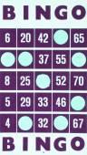 Purple bingo card isolated — ストック写真