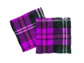 Scottish checked fabric — Stock Photo