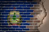 Dark brick wall with plaster - Vermont — Stockfoto