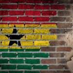 Dark brick wall with plaster - Ghana — Stock Photo #61266525