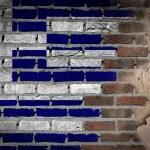 Dark brick wall with plaster - Greece — Stock Photo #61266535