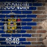 Dark brick wall with plaster - Wisconsin — Stock Photo #61266661