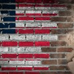 Dark brick wall with plaster - Liberia — Stock Photo #61313955