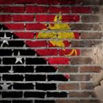 Dark brick wall with plaster - Papua New Guinea — Stock Photo #61314055