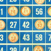 Blue bingo card isolated — Stock Photo