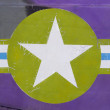 Tail of Vietnam war Airplane, green and purple — Stock Photo #61617831