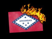 Flag burning - Arkansas — Stock Photo
