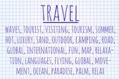 Travel word cloud — Stock Photo
