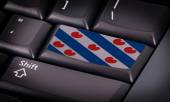 Flag on keyboard — Foto Stock