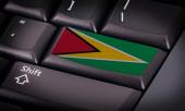 Flag on keyboard — Stock Photo