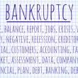 Bankruptcy word cloud — Stock Photo #64490635
