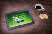 Online banking on a tablet — Stockfoto