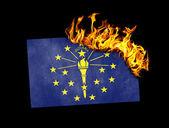 Flag burning - Indiana — Stock Photo