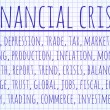 Financial crisis word cloud — Stock Photo #65228433