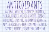 Antioxidants word cloud — Stock Photo