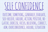 Self confidence word cloud — Stock Photo