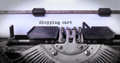 Vintage Inschrift der alten Schreibmaschine — Stockfoto