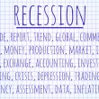 Recession word cloud — Stock Photo #65654193