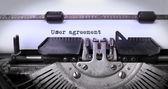 Inscription Vintage faite par vieille machine à écrire — Photo