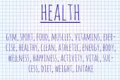 Health word cloud — Stock Photo