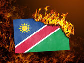 Flag burning - Namibia — Stockfoto