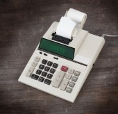 Old calculator - costs — Stock Photo