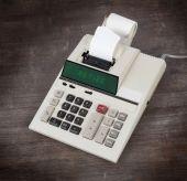 Old calculator - retire — Stock Photo