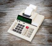Old calculator - healthcare — Stock Photo