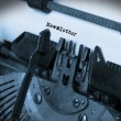 Old typewriter with paper — Stock Photo #67482505