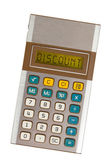 Old calculator - discount — Stock Photo